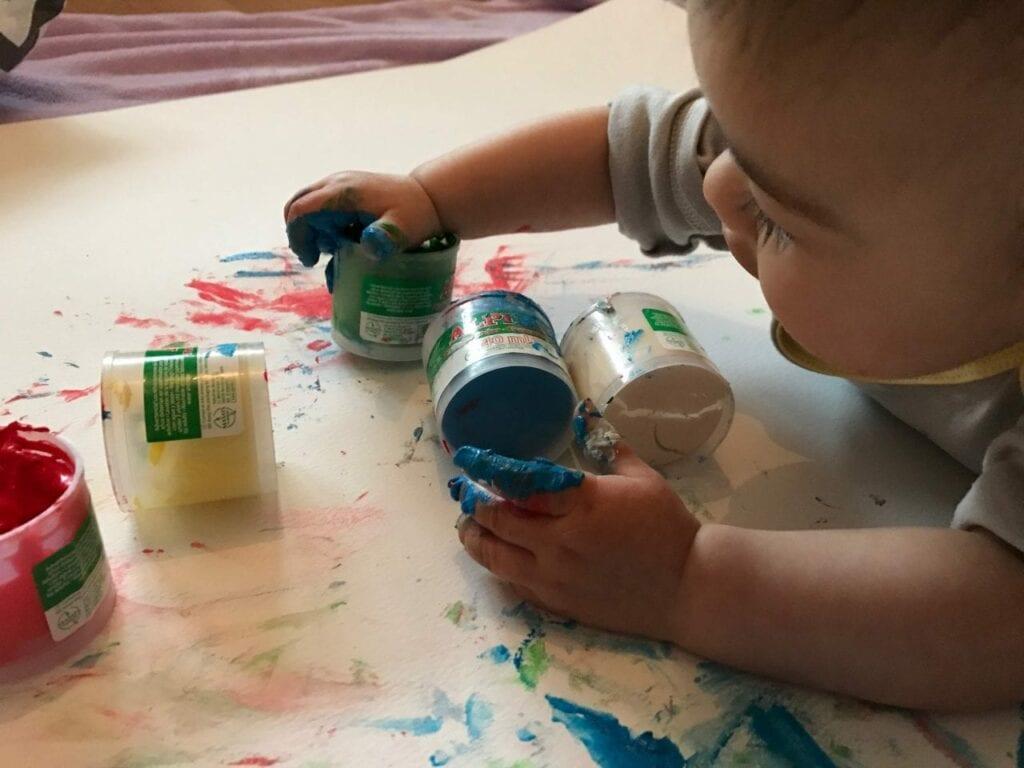 Pintura a dedos a partir dos 6 meses
