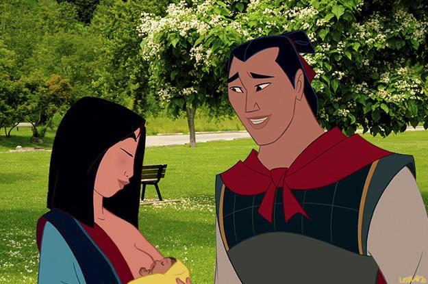 Mulan amamentando