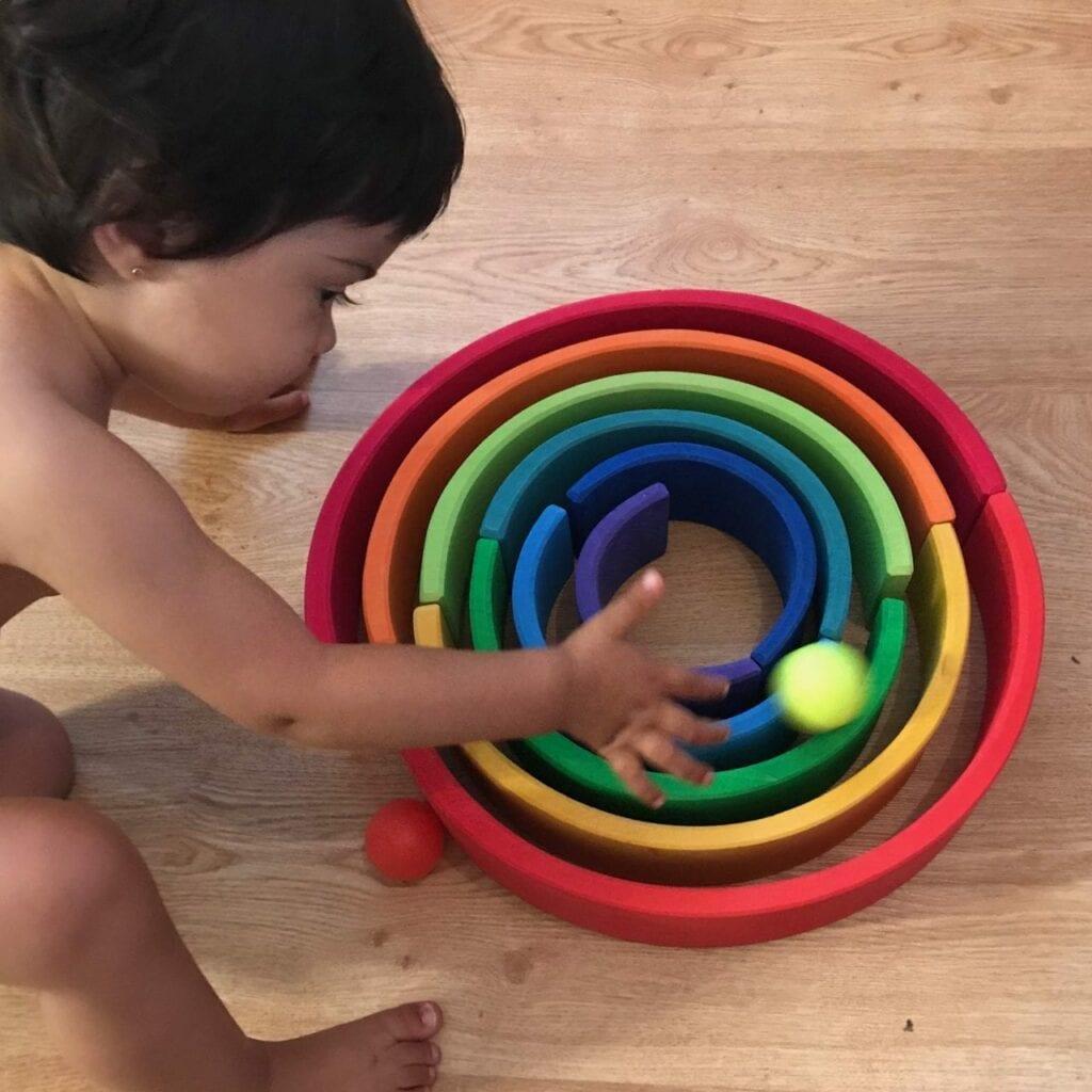 arco iris circuito de bolas 1