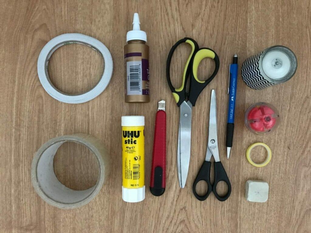 caixa de permanencia montessori - materiais necessarios