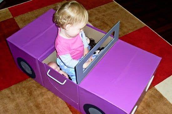 carro feito de caixa de papelao 08