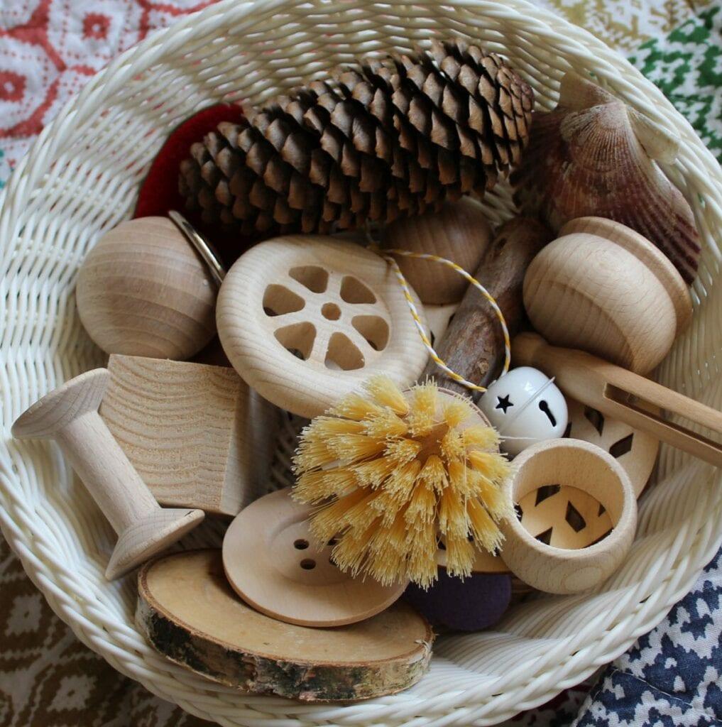 cesta dos tesosos montessori