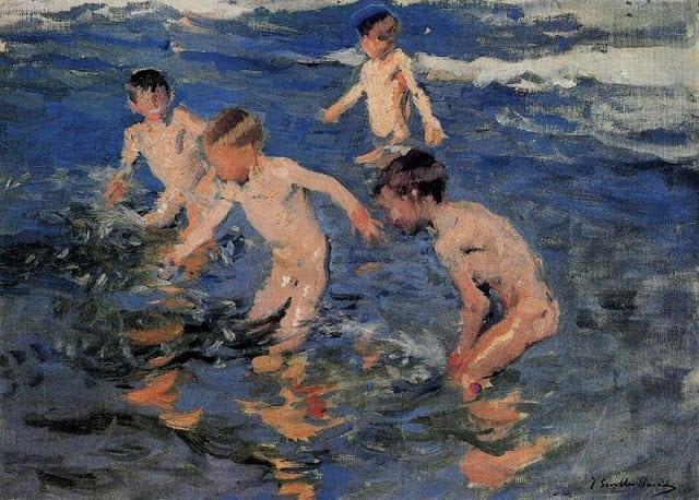 alegria banho, de joaquin sorolla