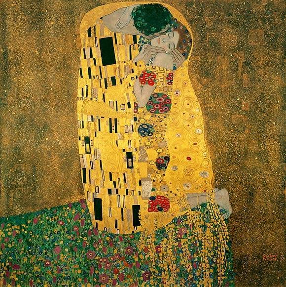 amor o beijo de gustav klimt