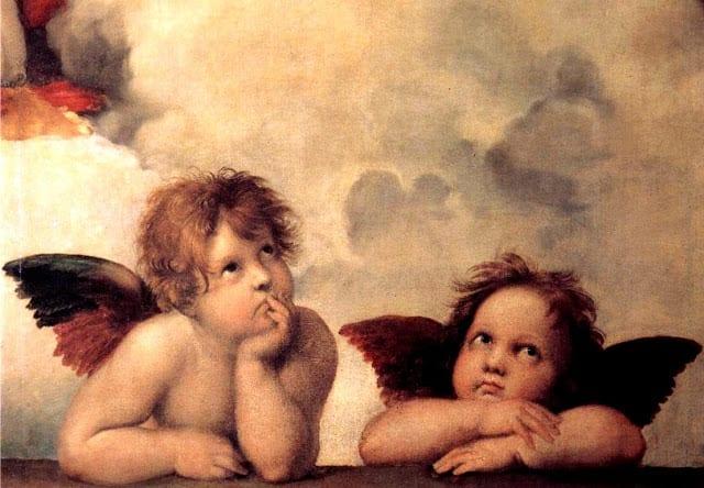 preguica os anjos da madonna sixtina de rafael