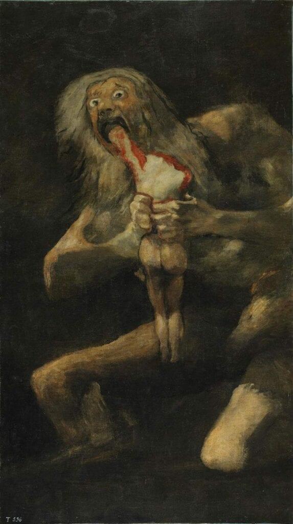 saturno devorando um filho goya desagrado