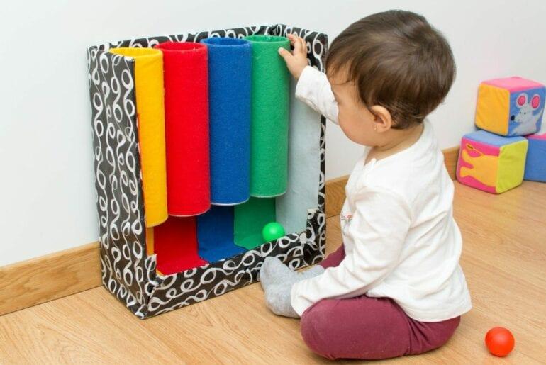 tubo de cores montessori como fazer