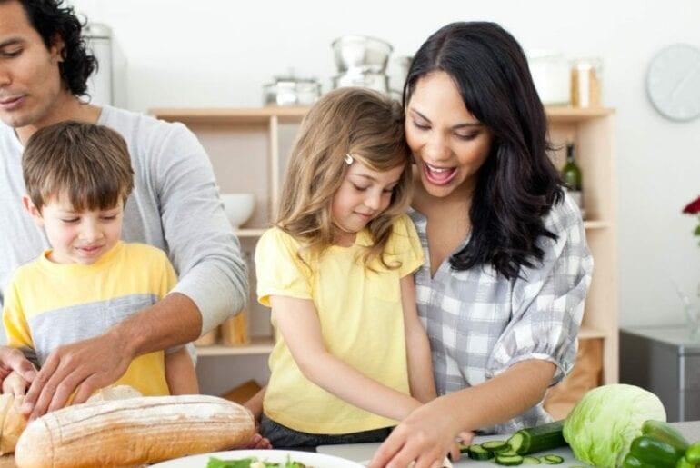 cozinhando com criancas