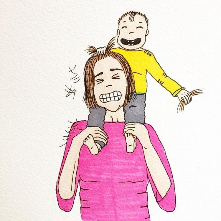 maternidade real - arrancando os cabelos