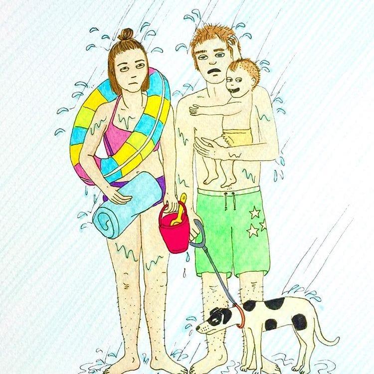 maternidade real - banho de chuva