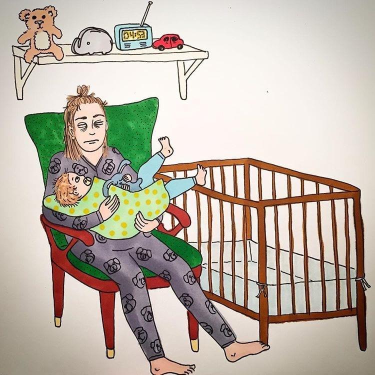 maternidade real - bebe nao dorme