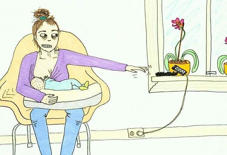 maternidade real - celular distante
