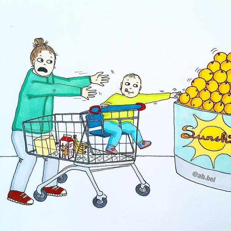 maternidade real - ida ao supermercado