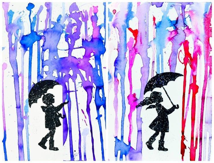 Pintando A Chuva Uma Atividade De Arte Para Crianças