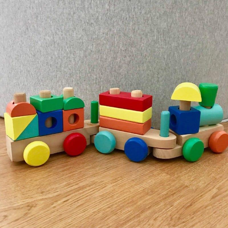 presente para bebe de 1 ano trenzinho de construcao