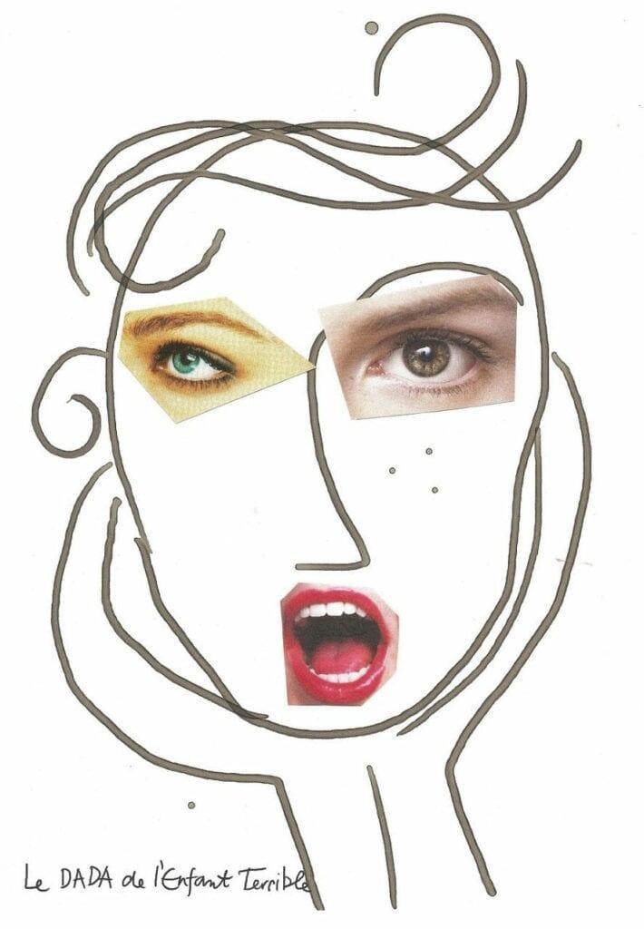 atividade criativa rosto humano 08