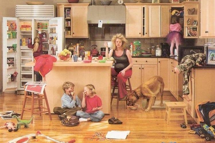 casa desorganizada filhos ansiosos