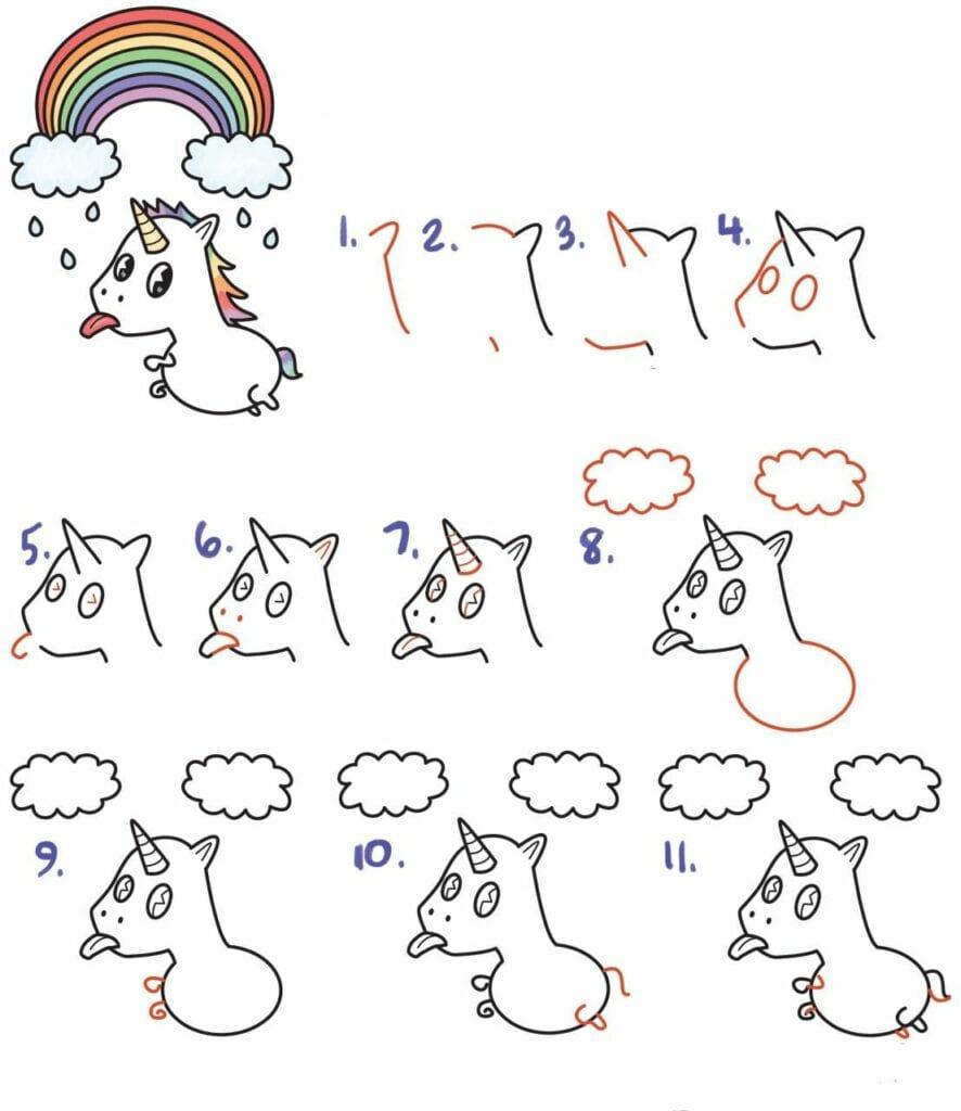 como desenhar um unicornio 01