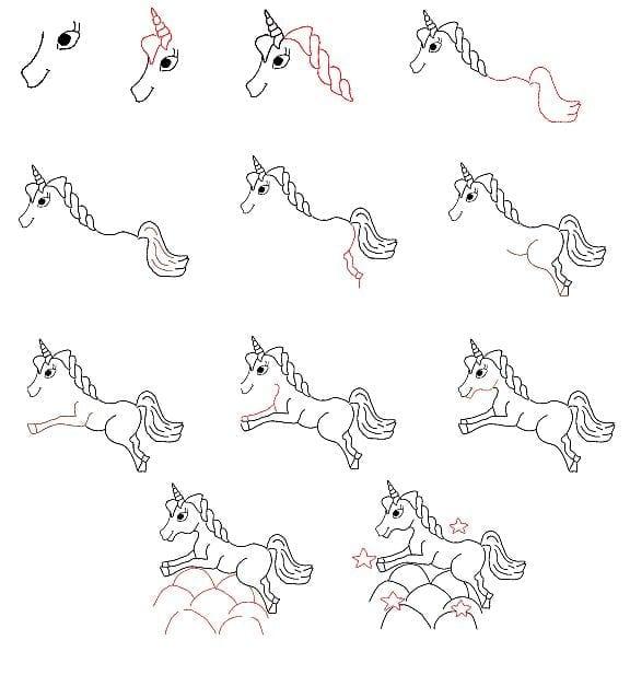 como desenhar um unicornio 03