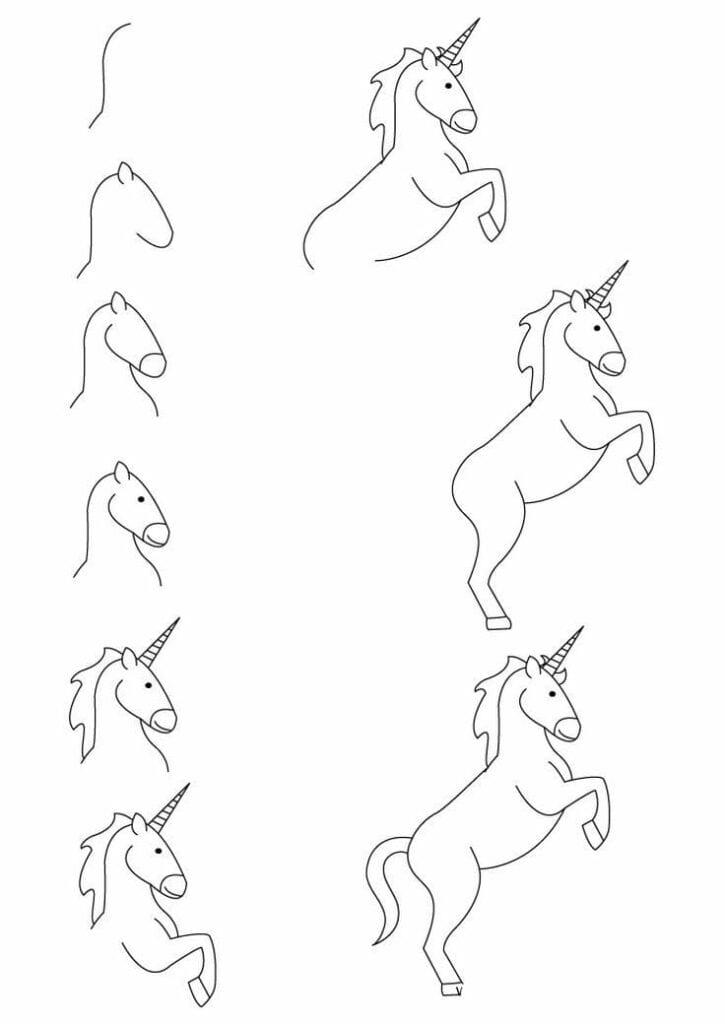 como desenhar um unicornio 04