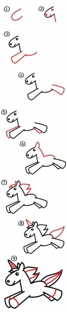 como desenhar um unicornio 06