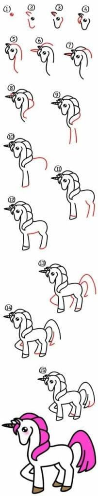 como desenhar um unicornio 5