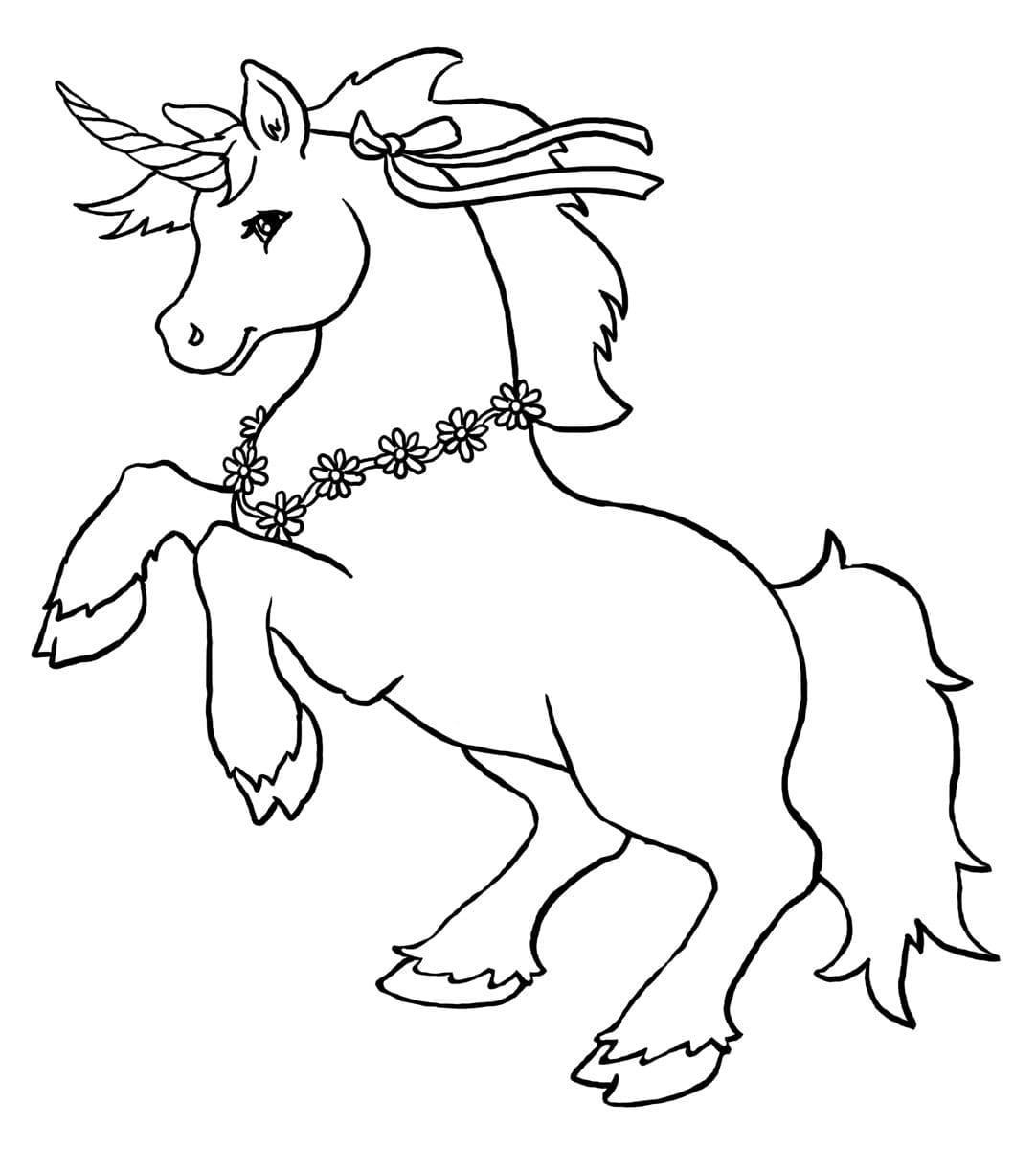 desenho de unicornio para pintar criando com apego