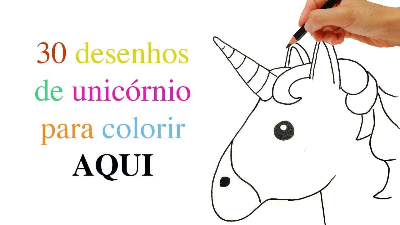 30 Desenhos De Unicórnio Para Colorir Pintar E Imprimir