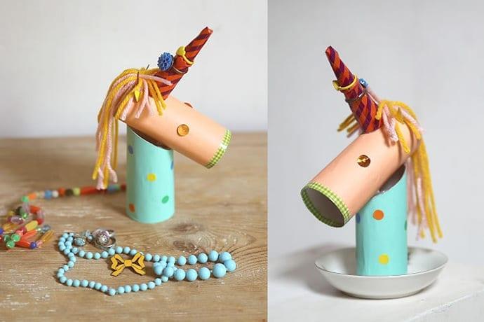 manualidade infantil unicornio papel higienico