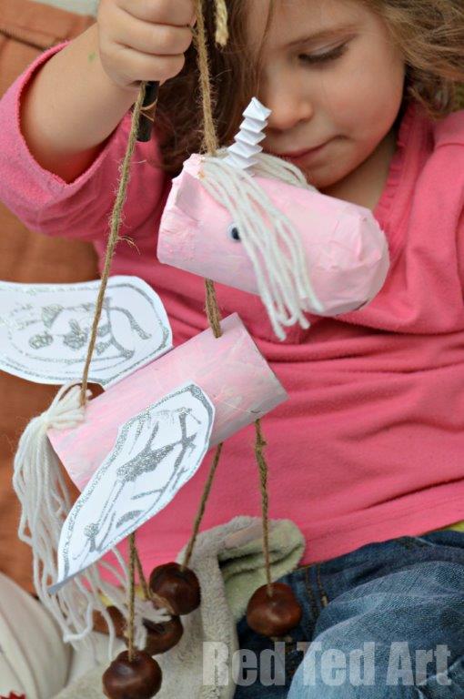 marionete unicornio diy 11