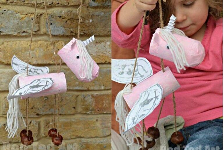 marionete unicornio facil de fazer