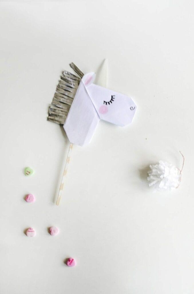 marionete unicornio origami