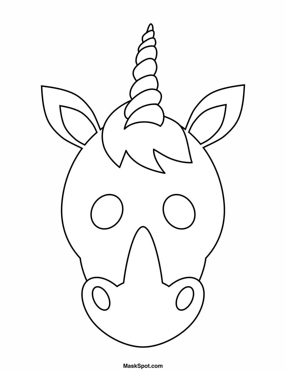 Mascara De Unicornio Para Imprimir Criando Com Apego