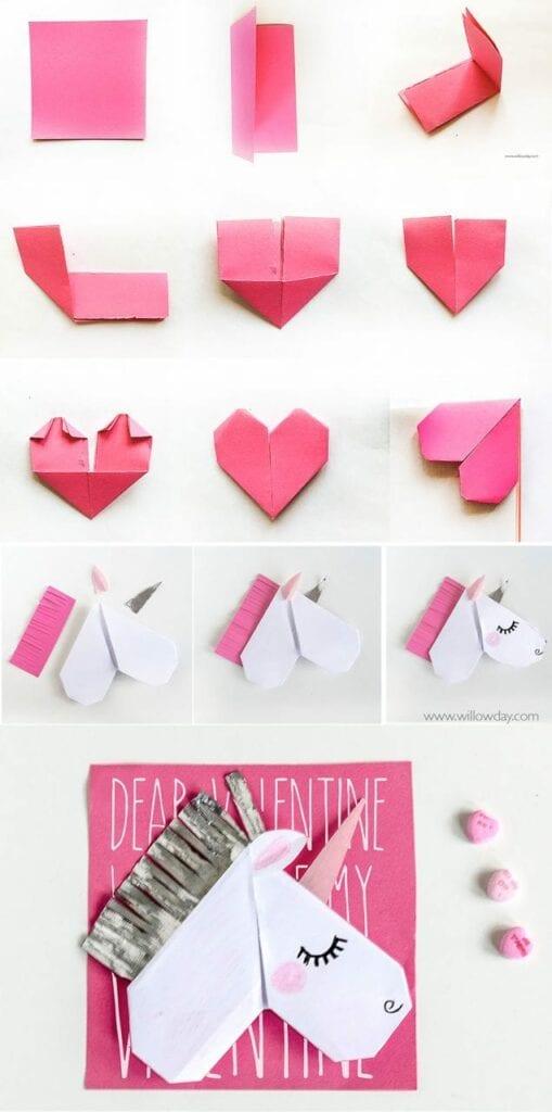 origami unicornio