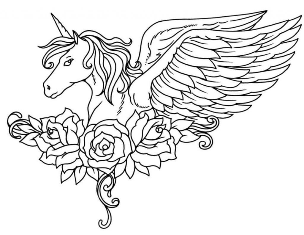 30 Desenhos De Unicornio Para Colorir Pintar E Imprimir
