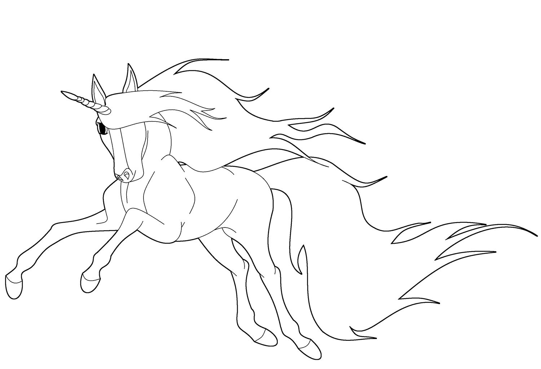 Unicornio Bonito Para Colorir Criando Com Apego