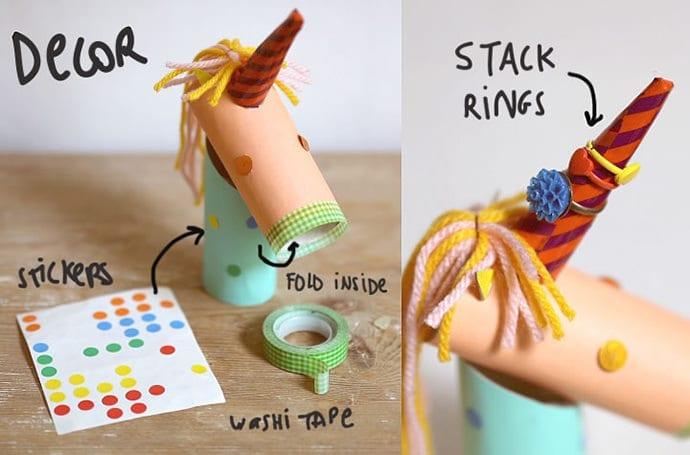 unicornio com rolo papel higienico 10