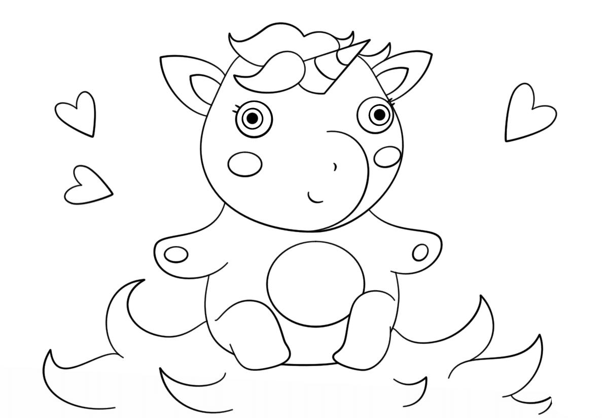 Unicornio Dia Dos Namorados Para Colorir Criando Com Apego