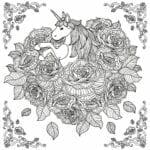 unicornio dificil para colorir