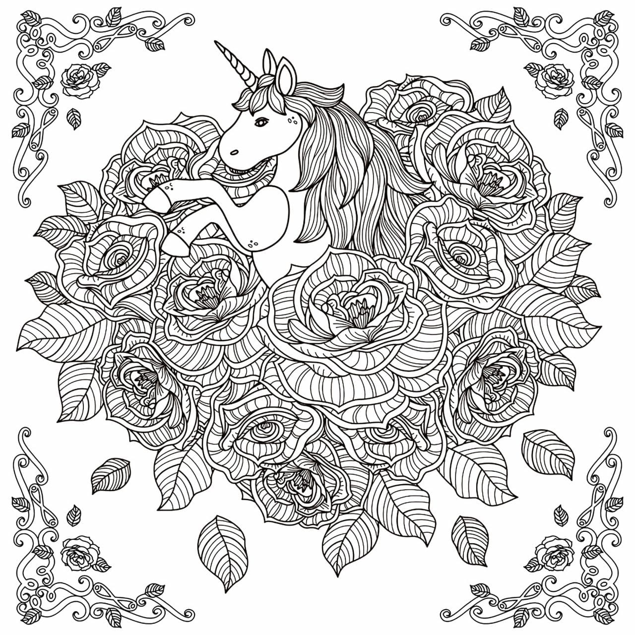 unicornio dificil para colorir criando com apego