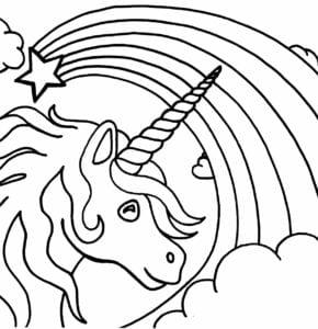 Unicornio E Arco Iris Para Colorir Criando Com Apego