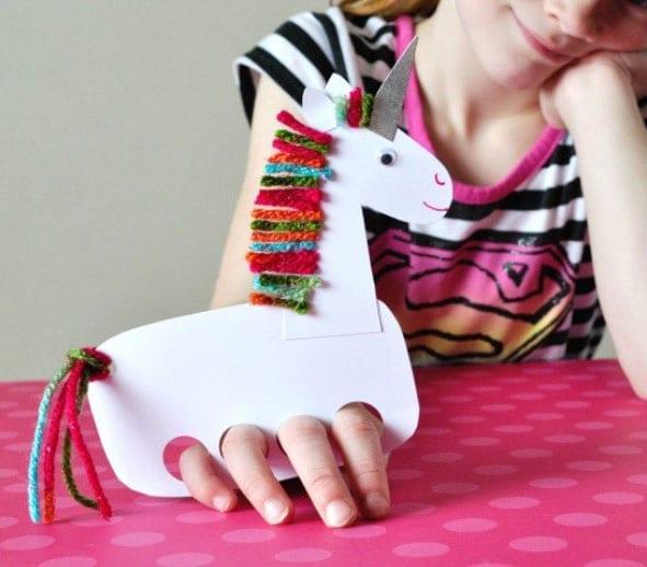 Fantoche De Dedos Unicornio Para Fazer Com Criancas
