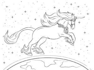 Unicornio Para Pintar E Imprimir Criando Com Apego