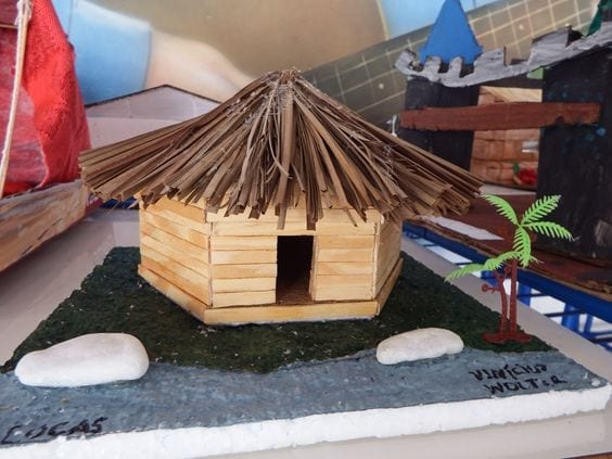 atividades dia do indio educacao infantil oca 04