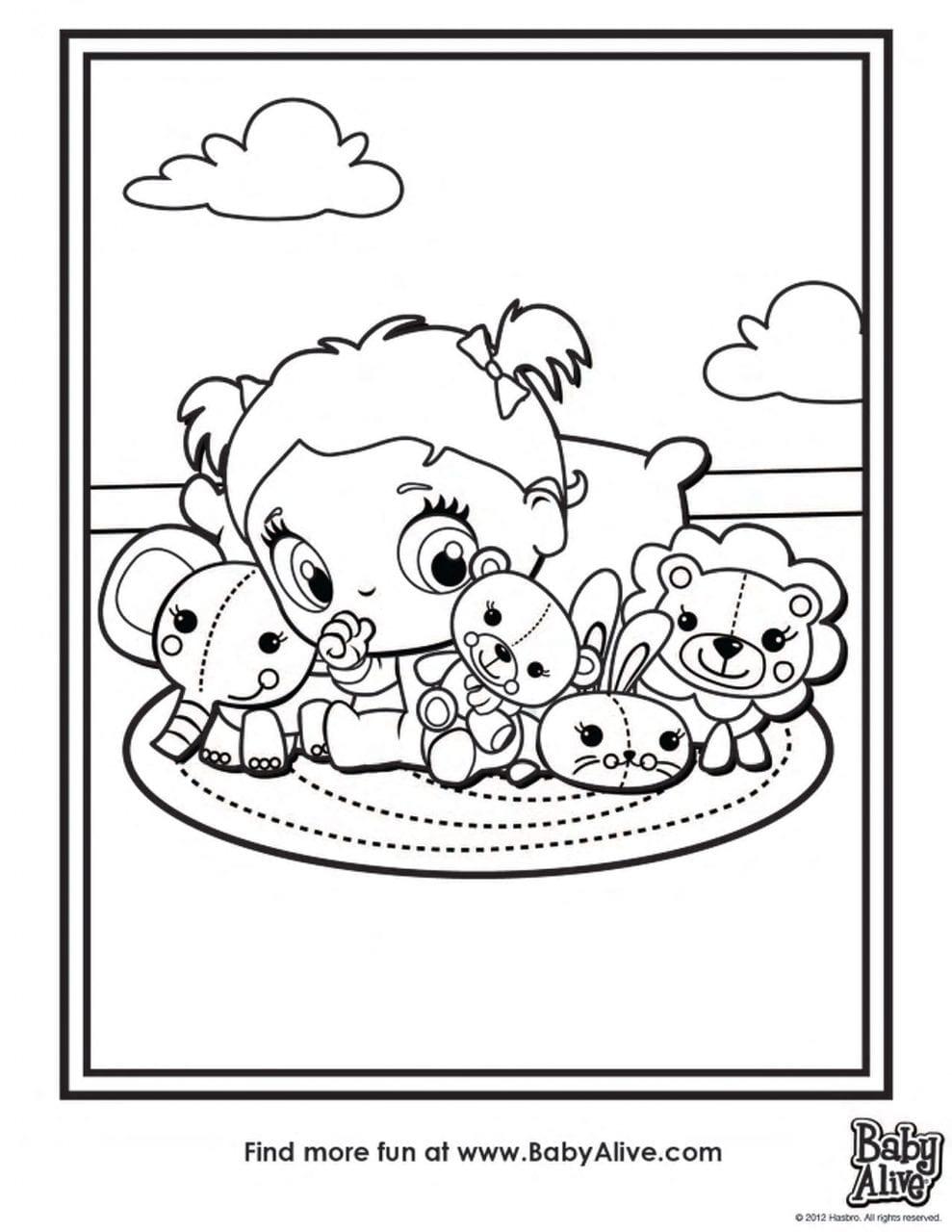Famoso Baby Doll Para Colorear Imprimible Componente - Ideas Para ...