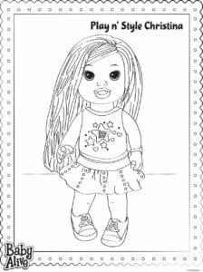 baby alive desenhos para colorir