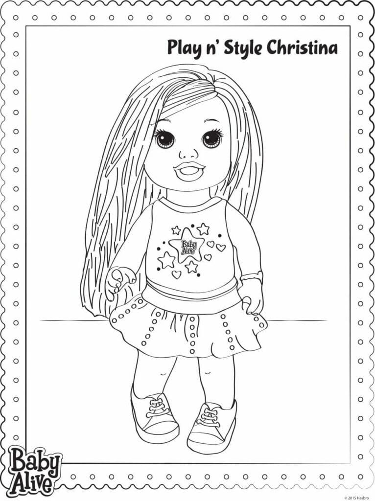 Baby Alive Desenhos Para Colorir Criando Com Apego