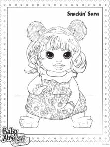 baby alive desenhos para pintar