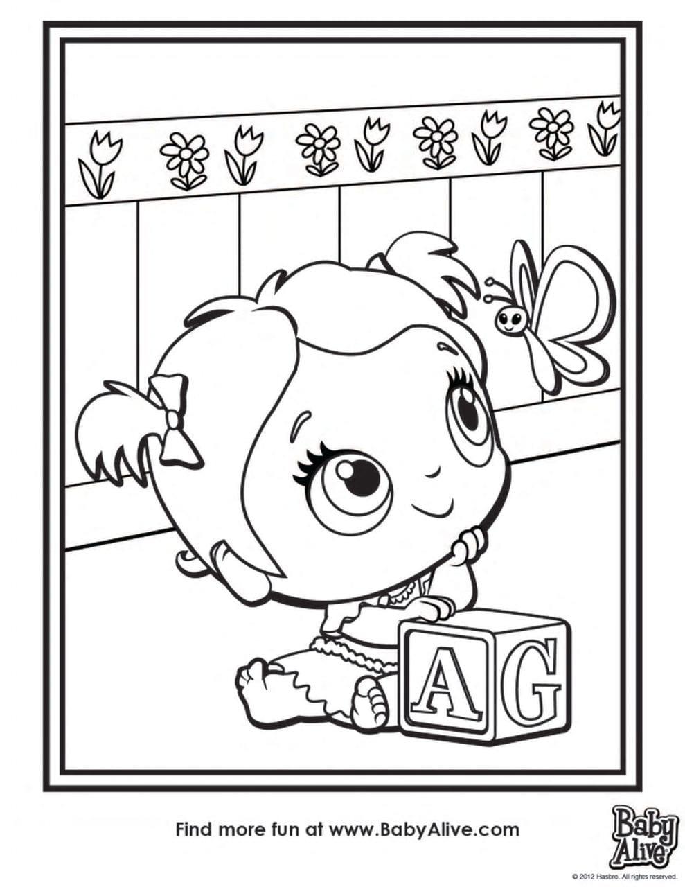 Lujoso Baby Doll Para Colorear Regalo - Dibujos Para Colorear En ...