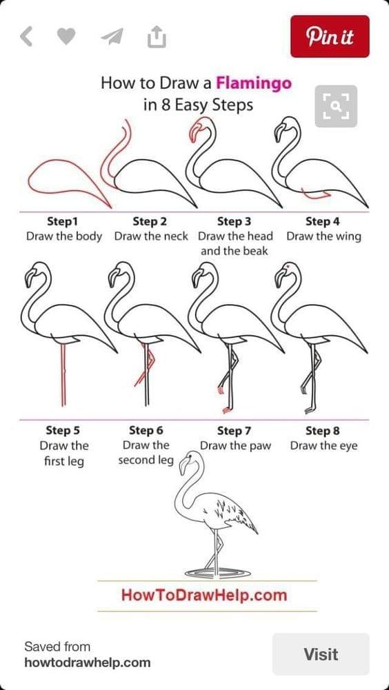 Como fazer um flamingo em 8 passos